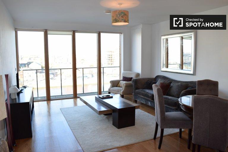 Apartamento de 2 quartos elegante para alugar em docas de silício