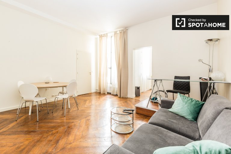 Modern 1-bedroom apartment for rent 2nd arrondissement Paris
