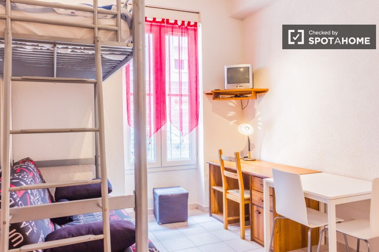 Sunny studio apartment for rent near Lyon 1 University and La DOUA campus in Villeurbanne