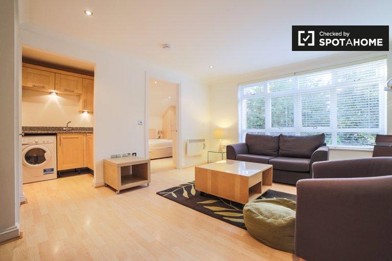 Stylowe mieszkanie z 1 sypialnią do wynajęcia w Kew w Londynie