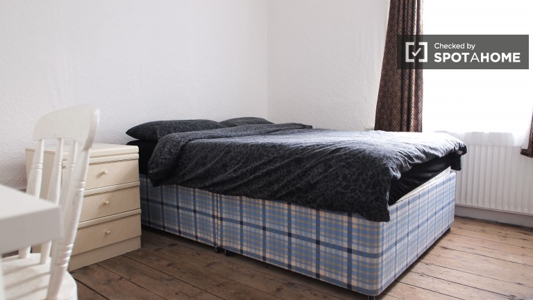 Bedroom 1 with a double bed