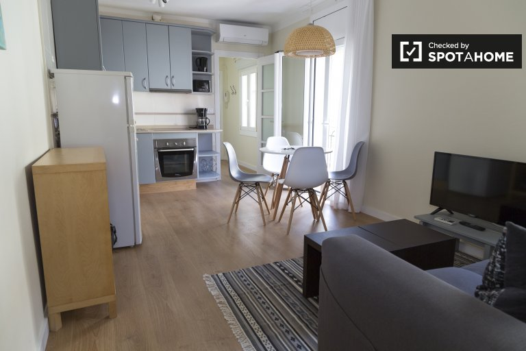 Piękny 2-pokojowy apartament do wynajęcia w Gràcia