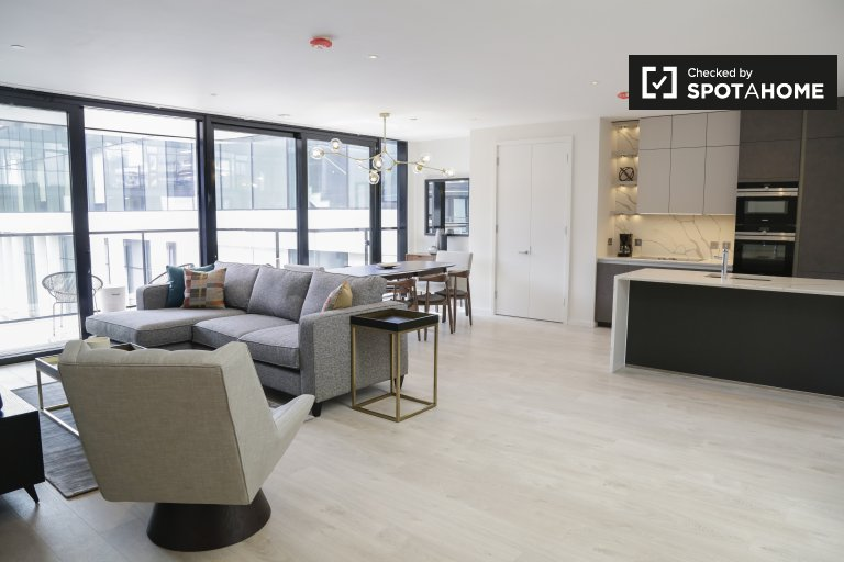 Appartamento con 3 camere da letto in affitto nel Grand Canal Dock