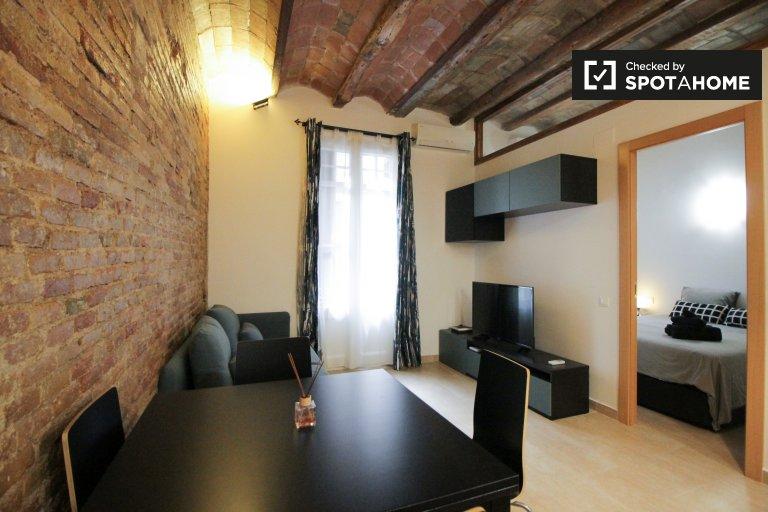 Piękne 1-pokojowe mieszkanie do wynajęcia w Grácia, Barcelona