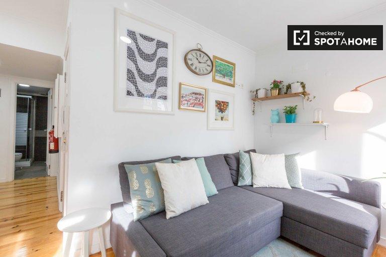 Apartamento de 1 quarto para alugar em Castelo, Lisboa