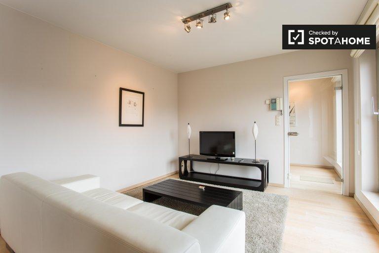 Nowoczesne 1-pokojowe mieszkanie do wynajęcia w Etterbeek, Bruksela