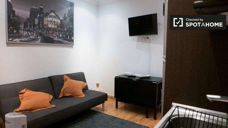 Nowoczesne 1-pokojowe mieszkanie do wynajęcia w Almagro, Madryt