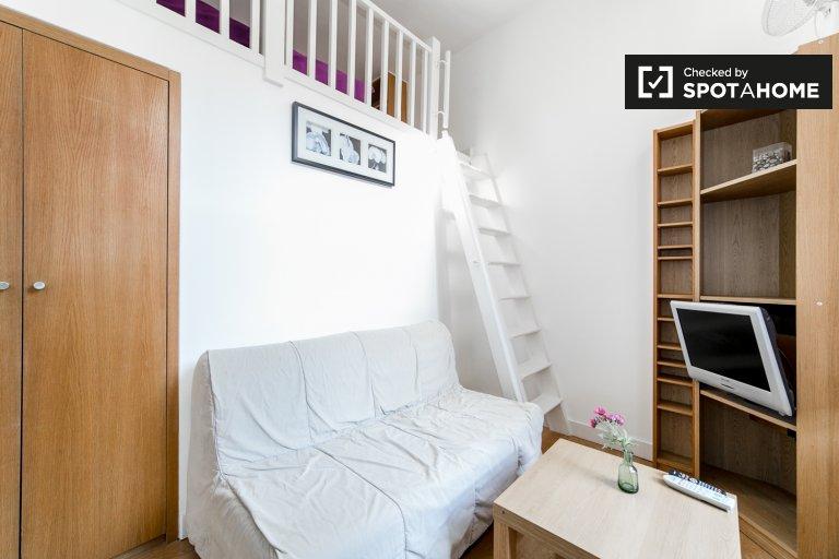 Bright studio apartment to rent in West Kensington