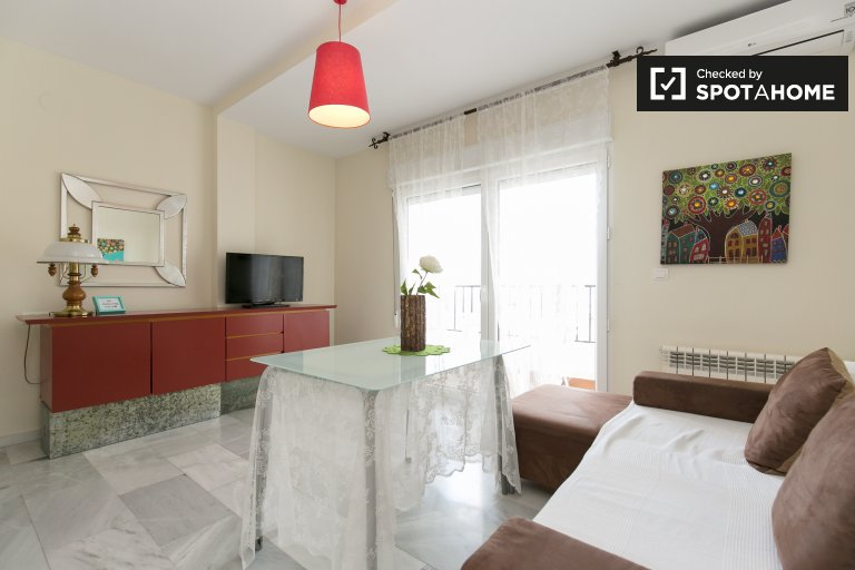 Charming 1-bedroom apartment with balcony for rent in San Miguel Alto