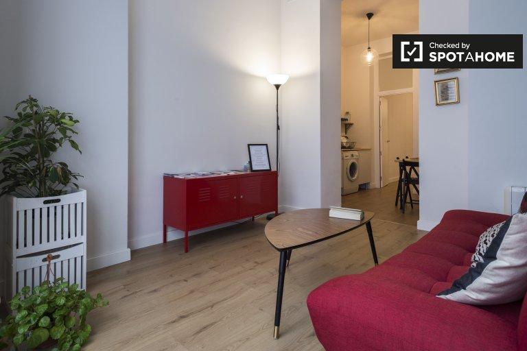Acolhedor apartamento de 1 quarto para alugar em Lavapiés, Madrid