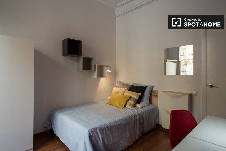Barri Gòtic, Barselona'da 6 yatak odalı dairede oda