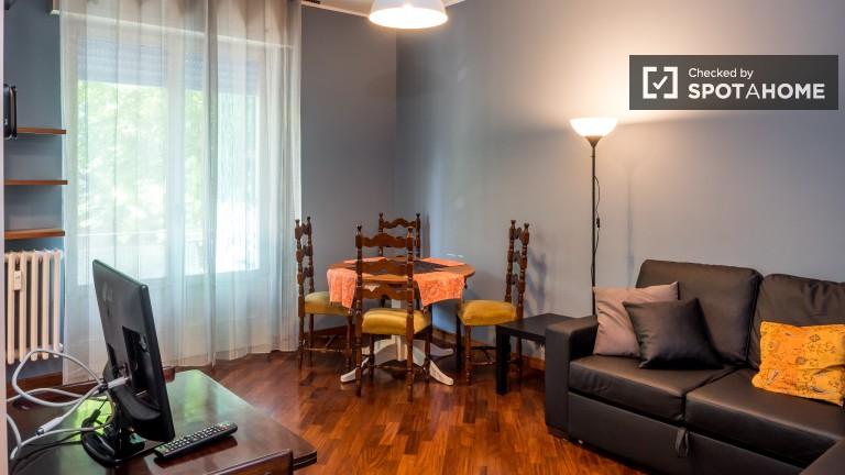 Apartamento de 1 quarto com ar condicionado para alugar em Navigli, Milão