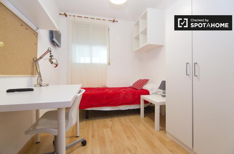 Quarto interior, em, apartamento, em, alcalá henares, madrid