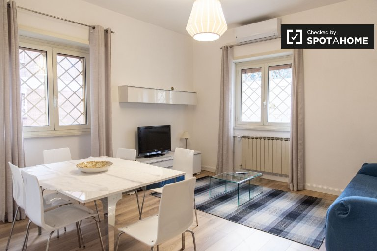 Elegant 2-bedroom apartment for rent in Portuense, Rome
