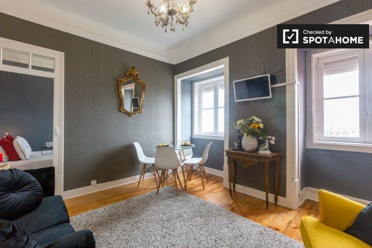 Amazing 1-bedroom apartment for rent in Graça, Lisbon