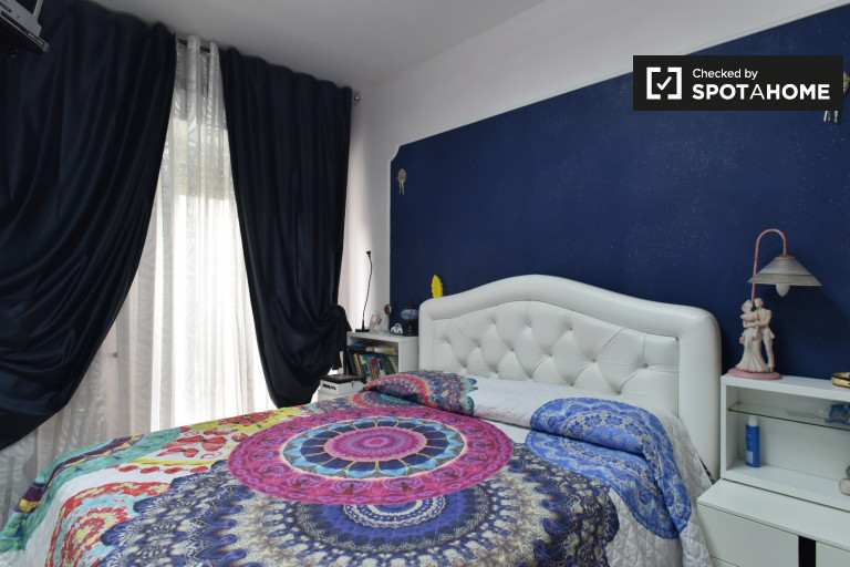 Double Bed in Room for rent in a 2-bedroom apartment in Colli Anieni