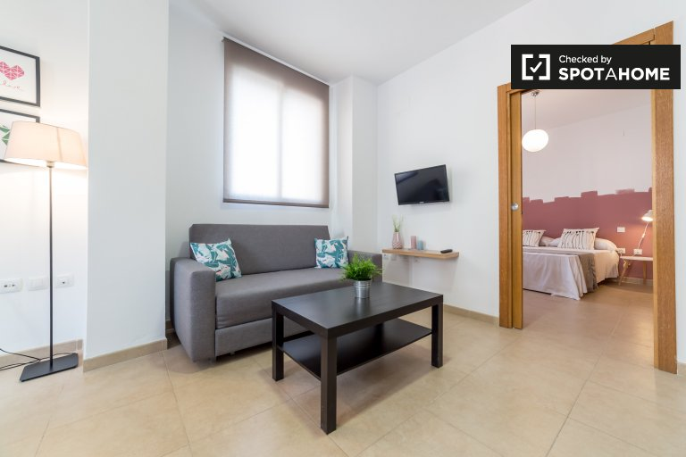 Spacious 1-bedroom apartment with balcony for rent in Ciutat Vella