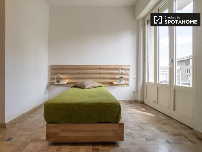 Łóżka do wynajęcia, wspólny pokój w apartamencie 1-osobowym, Villapizzone