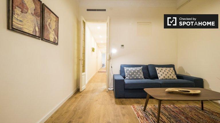 Pristine apartamento de 3 quartos para alugar, Sants, Barcelona