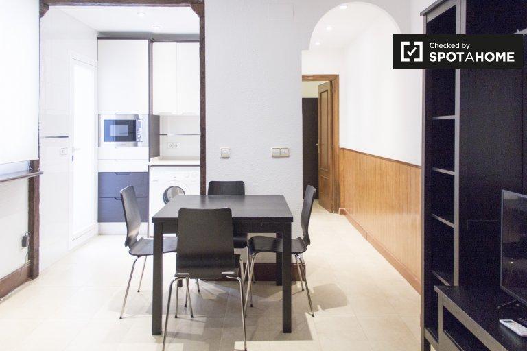 Nowoczesny 2-pokojowy apartament do wynajęcia w Atocha w Madrycie