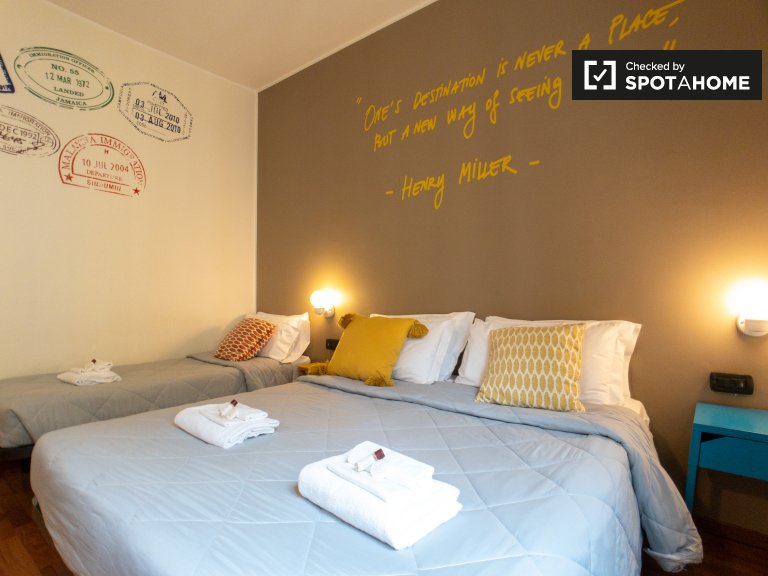 Cosy room for rent in hostel in Corso Buenos Aires, Milan