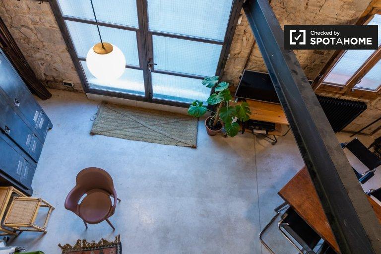 Elegante apartamento de 1 dormitorio en alquiler en Poblenou, Barcelona