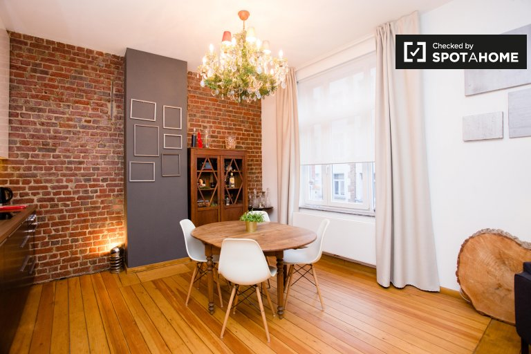 Stylish 1-bedroom apartment for rent, Saint Gilles, Brussels