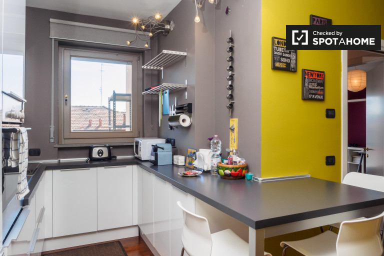 Apartamento luminoso para alquilar en Calvairate, Milán