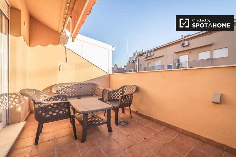 1-pokojowe mieszkanie z tarasem do wynajęcia, Botanic, Valencia