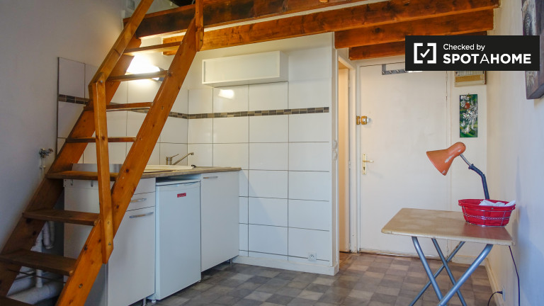 Studio apartment for rent by metro station, Malakoff, Paris