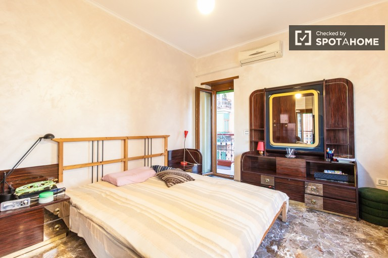 Bedroom 2 with Double Bed and Balcony Access
