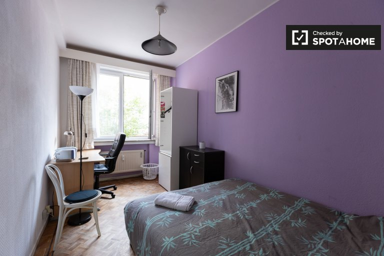 Room for rent in 3-bedroom apartment in Koekelberg, Brussels