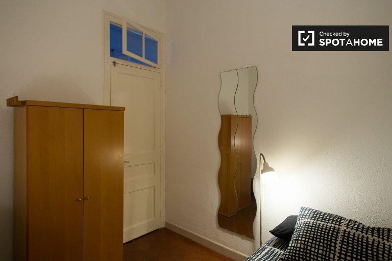 Pokój jednoosobowy do wynajęcia w 4-pokojowym mieszkaniu, El Clot