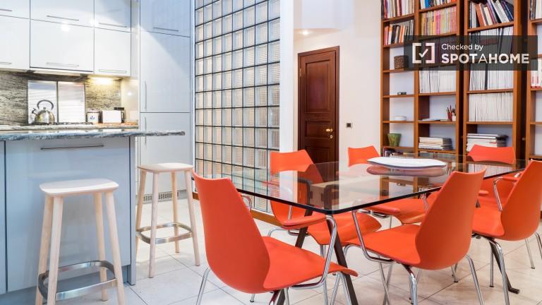 Apartamento de luxo com 1 quarto para alugar em Milão