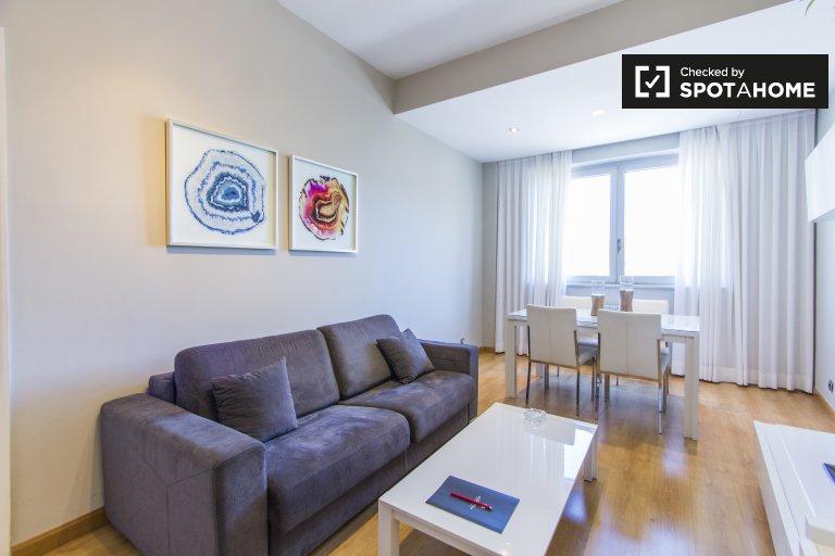 Nowoczesne 1-pokojowe mieszkanie do wynajęcia w Madrycie Centro