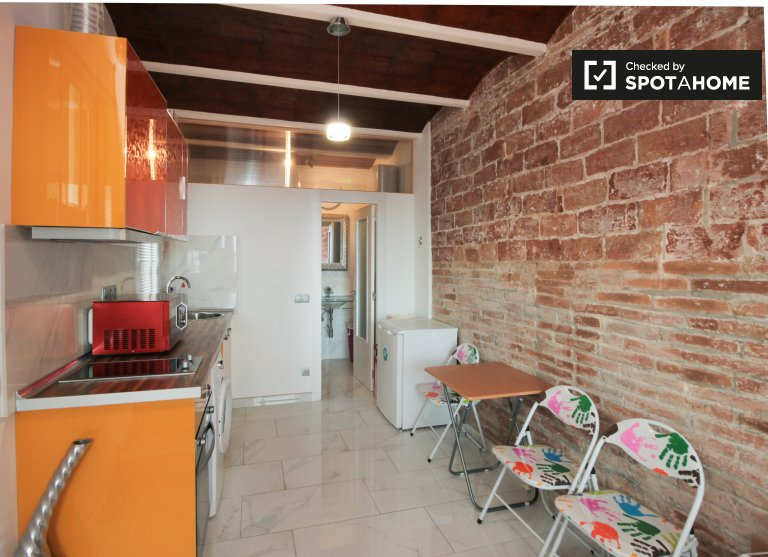 Chic studio apartment for rent in Poble-sec, Barcelona