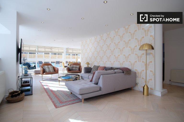 Luksusowy penthouse z 5 sypialniami do wynajęcia w Bayswater w Londynie