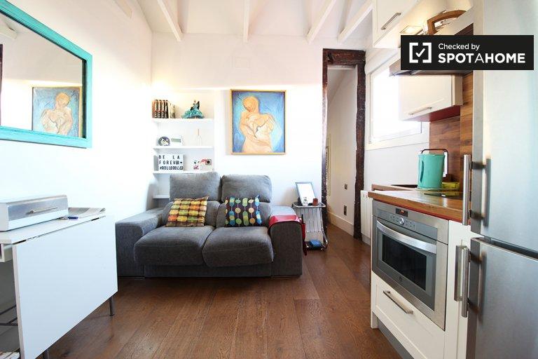 Apartamento de 1 quarto elegante para alugar em Lavapiés, Madrid