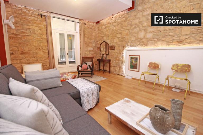 Apartamento de 2 quartos com ar condicionado para alugar em El Born, Barcelona