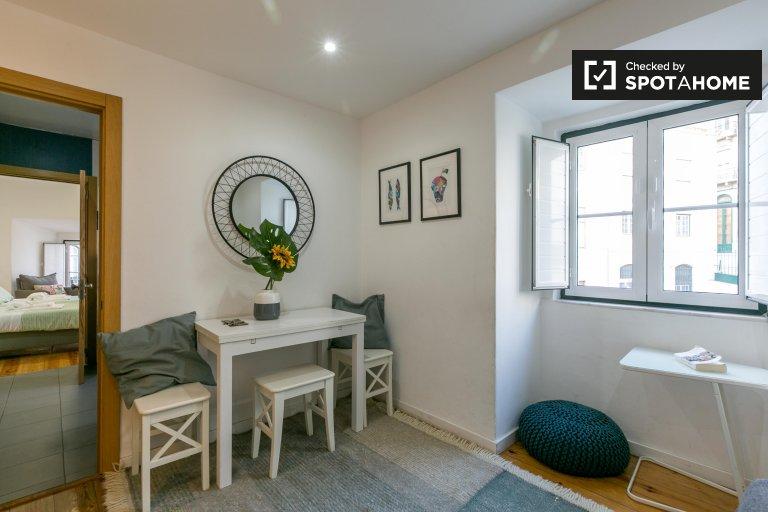 Appartamento con 1 camera da letto in affitto a Santa Maria Maior, Lisbona