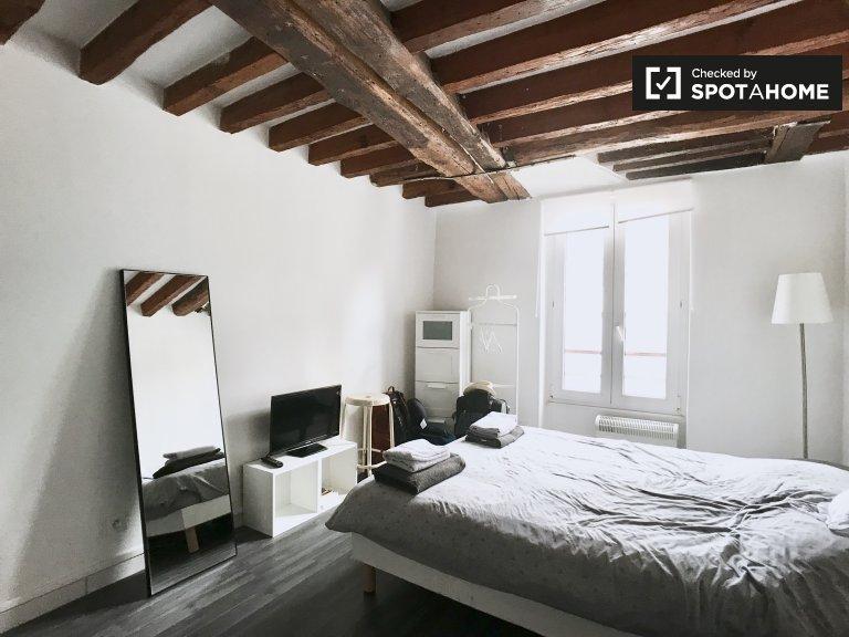 Studio apartment for rent in the 4th arrondissement, Paris.
