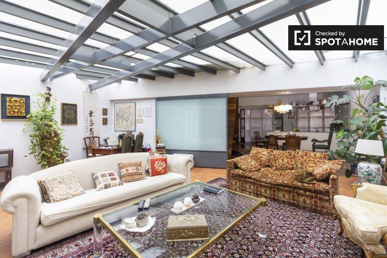 Zimmer zu vermieten in 2-Zimmer-Wohnung mit Klimaanlage, im Zentrum von Madrid