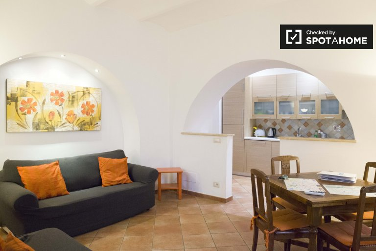 Roomy 1-bedroom apartment for rent in Centro Storico, Rome