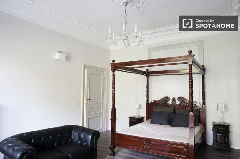 Spacious studio apartment with equipped kitchen for rent in Ixelles