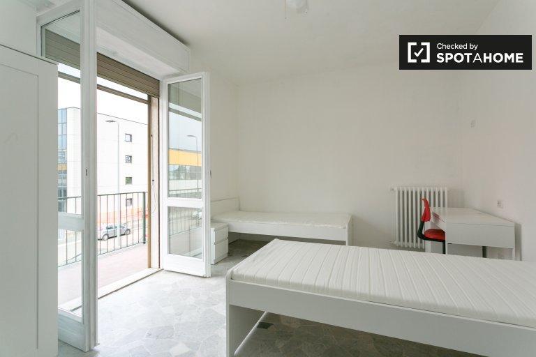 Chambre simple dans un appartement à Vigentino, Milan