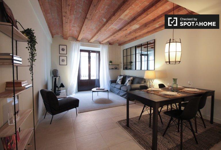 Apartamento de 2 quartos para alugar em La Barceloneta, Barcelona