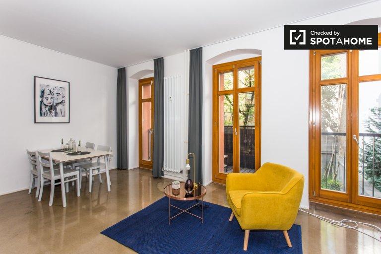 Friedrichshain, Berlin'de kiralık Bohemian stüdyo daire