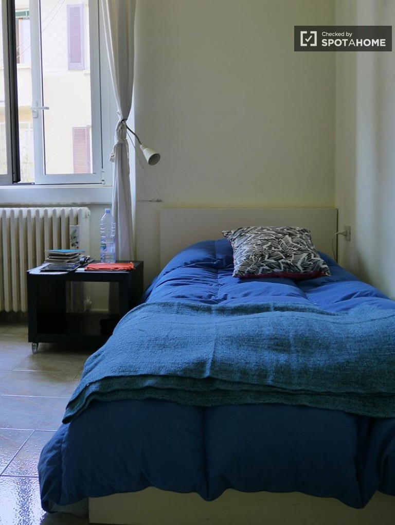 Single Bed in Rooms for rent in 2-bedroom apartment near Politecnico di Milano