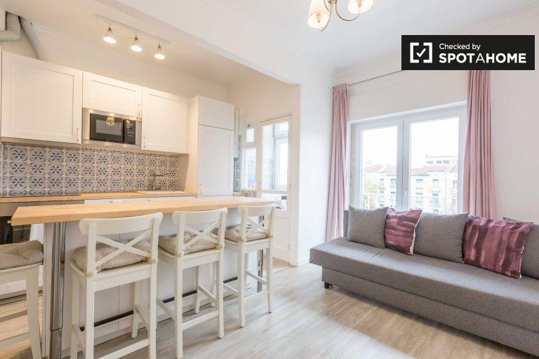 Apartamento de 1 quarto elegante para alugar em Alvalade, Lisboa