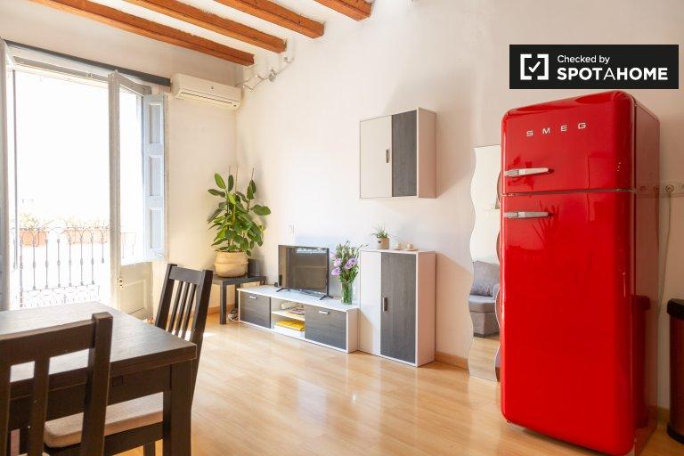 Estúdio chique para alugar em El Raval, Barcelona